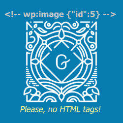 gutenberg html tags search